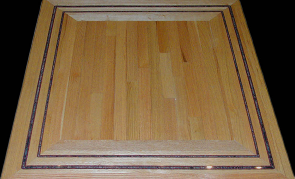 Stone inlaid flooring by seclay for Hardwood floor borders ideas