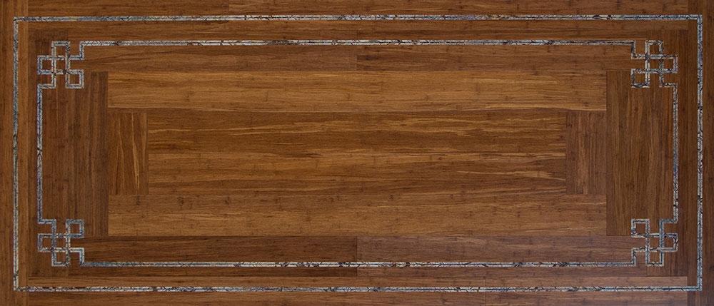 Floor Celtic Knot Bamboo Rain Forest Verde Fantasy