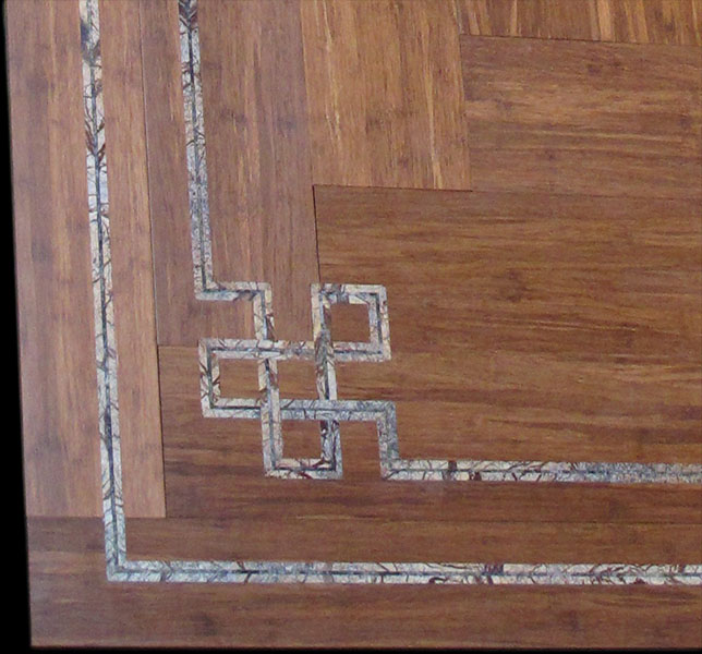 Marble Inlay Flooring Service : Flooring celtic knot rain forest verde fantasy seclay