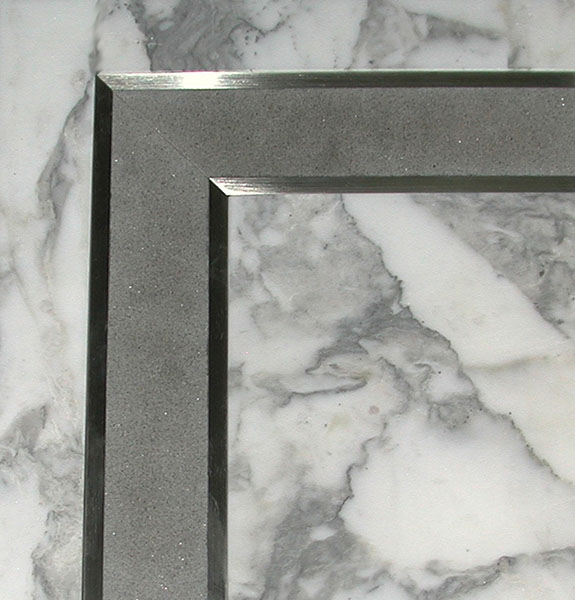 Marble Inlay Borders : Stone inlaid flooring by seclay