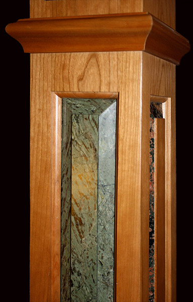 staircase-box-newel-Verde-Borgogna